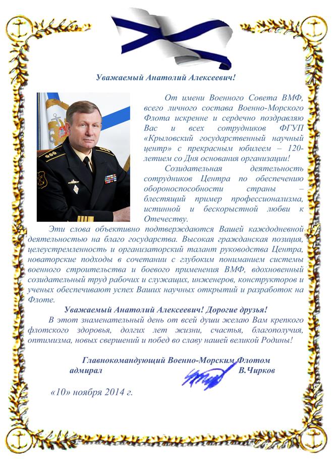 Поздравления адмиралу с днем рождения